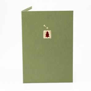 Grüne Weihnachtskarte