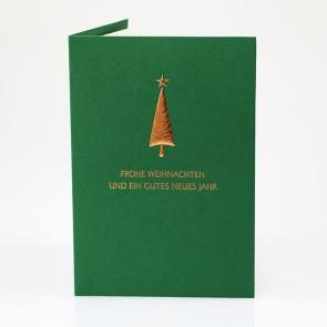 Grüne Weihnachtskarte - 19025