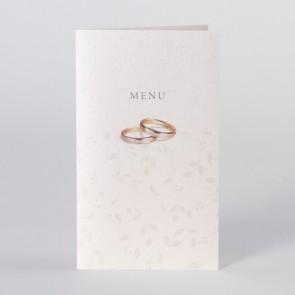 Exklusive Menükarte Hochzeit mit Eheringen- Nr. 205053