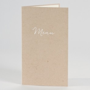 Menükarte aus naturbraunem Karton
