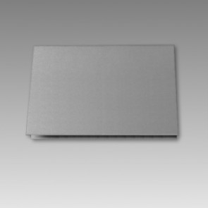 Rechteckige Blanko-Klappkarte, silbermetallic