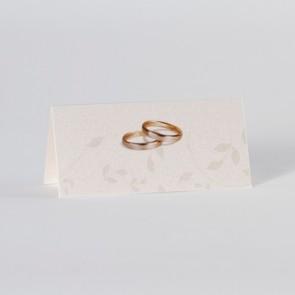 Tischkarte Hochzeit mit Eheringen - Nr. 225053