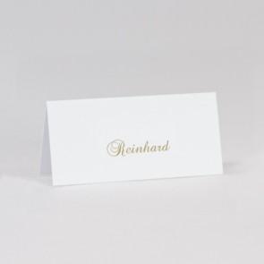 Tischkarte Hochzeit in weiß