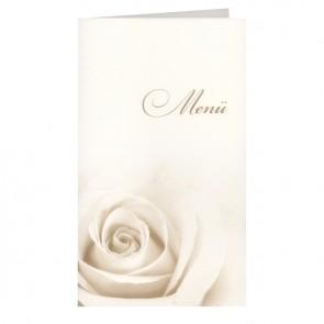 Menükarte zur Hochzeit mit Rose