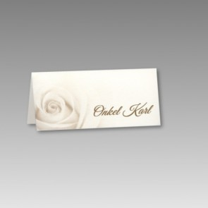 Tischkarte zur Hochzeit mit Rose