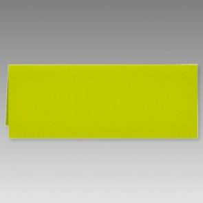 Grüne Klappkarte in schmaler Form