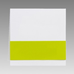 Quadratische Blankokarte mit grüner Banderole
