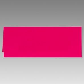 Pinkfarbene Klappkarte in schmaler Form.