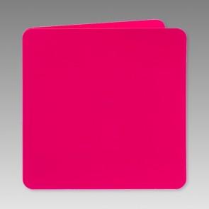 Quadratisch Klappkarte in pink