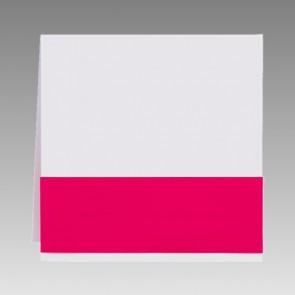 Quadratische Blankokarte mit pinker Banderole