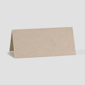 Hochzeits-Tischkarte aus braunem Öko-Karton