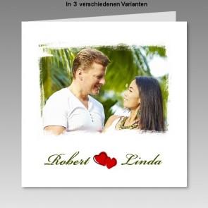 Hochzeitseinladung mit Ihrem Foto, gedruckt