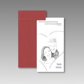 Einladungskarte mit Ihrem Bild und Effekt Bleistiftzeichnung