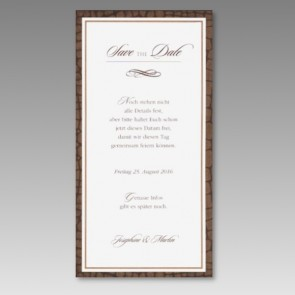 Elegante Save-the-date Karte