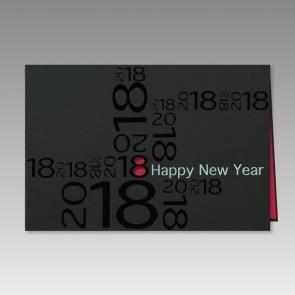 Auffallend schöne Neujahrskarte