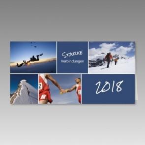 Neujahrskarte starke Verbindungen