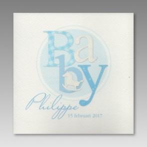 Babykarte für Jungen, blau