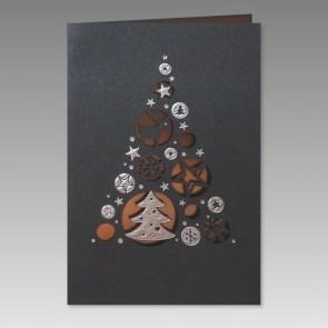 Exklusive Weihnachtskarte, Metallic-Karton