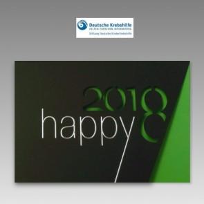 Spenden-Neujahrskarte 2018 der Stiftung Deutsche Kinderkrebshilfe
