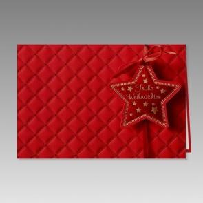 Hochwertige weihnachtskarte in Rot