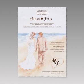 Romantische Einladungskarte für die Hochzeit