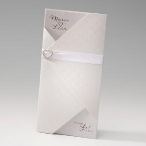 Hochzeit Einladungskarte mit Diamantherz