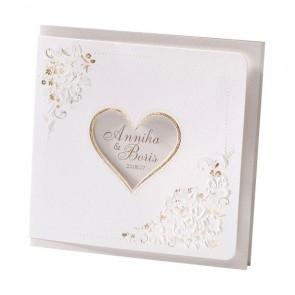 Romantische Hochzeitskarte mit Herz