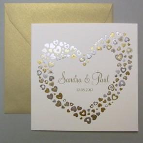 Elegante Einladungskarte Hochzeit - Nr. 725018W