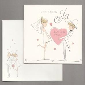 Lustige Comic Hochzeitseinladung Nr. 725044
