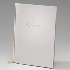 Metallic-Kirchenheft Hochzeit in einem  Kartenset