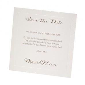 Hochzeit Save the date Karte, Herzmuster