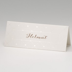Hochzeit Tischkarte mit Herzmuster