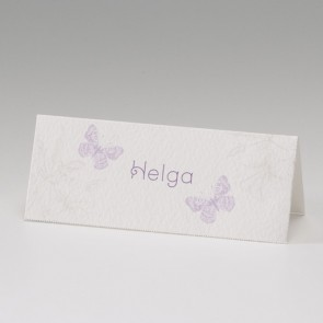 Hochzeitstischkarte verspielt, zwei Schmetterlinge