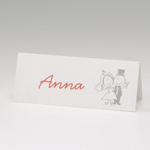 Hochzeitstischkarte mit lustigem Brautpaar - Nr. 725739