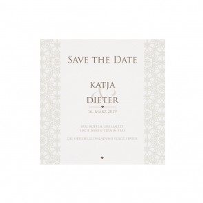 Save the date Karte Vorderansicht