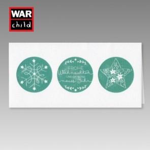 Weiße Spendenkarte Hilfsoranisation War Child
