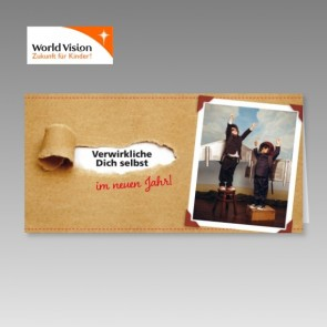 Spendenkarten zu Weihnachten für World Vision