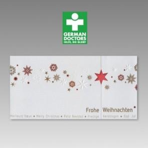 Internationale Weihnachtskarte Spende für German Doctors