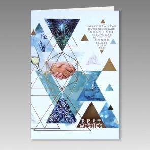 Neujahrskarte in kunstvollem Design