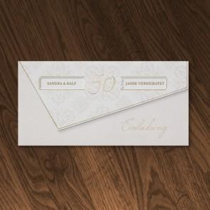 Elegante Einladung Goldene Hochzeit Mit Goldener 50