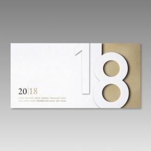 Neujahrskarte im besonderen Design