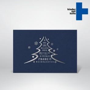 Spendenkarte in blau - 80818