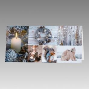 Preiswerte Weihnachtskarte mit Eisbären