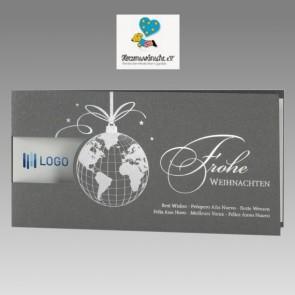 Spendekarte zu Weihnachten für Herzenswünsche eV mit Weltkugel