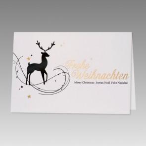 Weihnachtskarte in Weiß