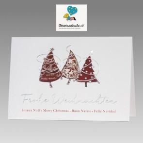 Internationale Weihnachtskarte mit Spende