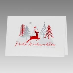 Moderne Weihnachtskarte, schlichtes Design