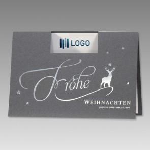 Logo-Weihnachtskarte für Ihre Firma