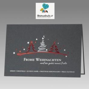 Moderne Weihnachtskarte mit Spende: Herzenswünsche e.V.