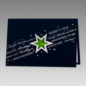 Pfiffige Weihnachtskarte, dunkelblau